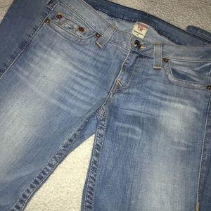 True Religion Light Wash Mid Rise Jeans